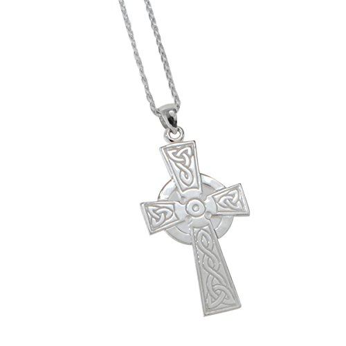 Keith Jack Eternal Faith Celtic Knot Cross Silver Mens Short Necklace by Keith Jack