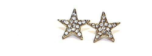 Surgical Stainless Steel Studs Earrings Little Girl-Women Star Shape Cubic Zirconia Hypoallergenic Earrings ()