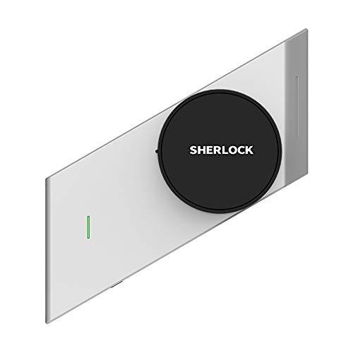 Sherlock S2 - Cerradura Inteligente para Puerta con 2 Llaves Bluetooth y Cerradura sin Llave, Plateado