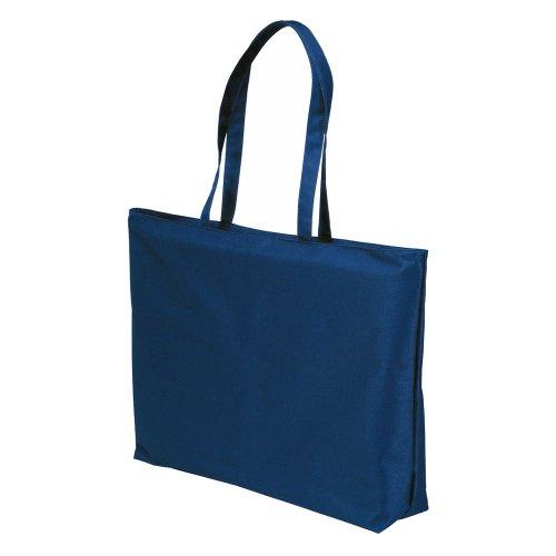 eBuyGB Bolsa de tela y de playa, blanco (Blanco) - 1247306 Azul