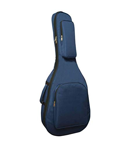 Generic-UNIQUE-ENTERPRISES-Heavy-Padded-Acoustic-Guitar-Bag-With-Blue-Color-Cover-Soft-Fabric-39-Inch