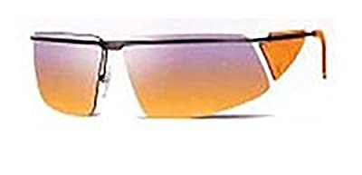 New Authentic Mens Calvin Klein Orange Gradient 77mm Semi-Rimless Sunglasses CK2038 134