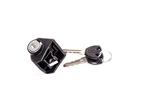 Akku Schloss mit Schlüssel Bosch Abus Zylinder E-Bike Pedelec schwarz