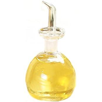 Delightful ELETON Cylindrical Olive Oil Dispenser Oil Bottle Glass With No Drip Bottle  Spout   Oil Pourer