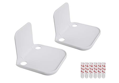 - Stick-On Wall Mount Small Speaker Shelf White 2 Pack