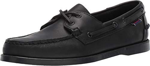 Sebago Men's, Portland Boat Shoe Solid Black 14 M