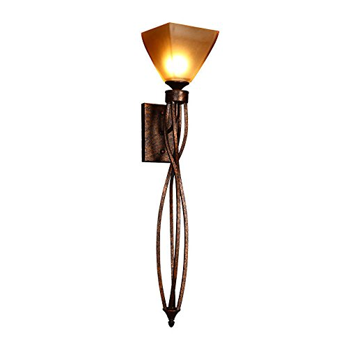 LED Wall Lights Wall Sconce Light Fixture Up Down Decorative Wall Lighting Retro Living Room TV Background Wall Light bar The Road Long Wall Lamps Faux Marble Iron Works (B0D1)