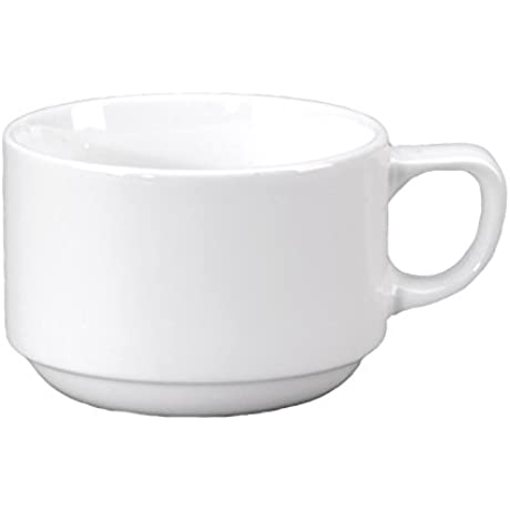 Vertex China RB 35 Rubicon Demitasse Stacking Cup 2 5 8 4 Oz Bright White Pack Of 48