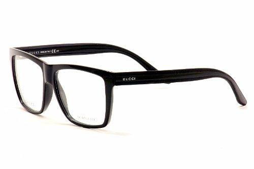 9135909378c0f Gucci Men s 1008 Black Frame Plastic Eyeglasses  Amazon.co.uk ...