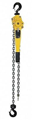 "Lever Chain Hoist, 3000 lb. Load Capacity, 15 ft. Hoist Lift, 1-3/8"" Hook Opening"