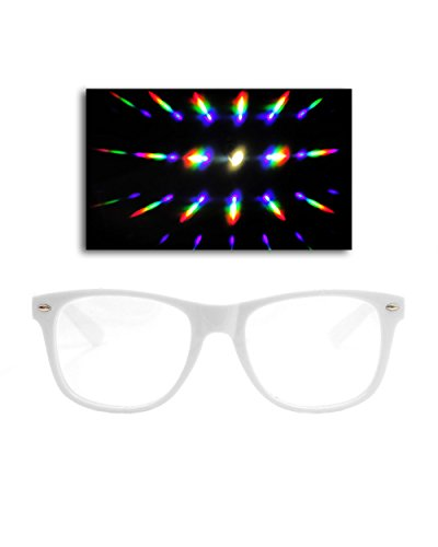 Emazing Lights Diffraction Prism Rave Glasses (White)