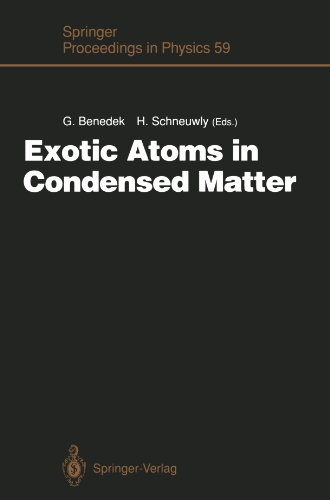 - Exotic Atoms in Condensed Matter: Proceedings of the Erice Workshop at the Ettore Majorana Centre for Scientific Culture, Erice, Italy, May 19 - 25, 1990 (Springer Proceedings in Physics)