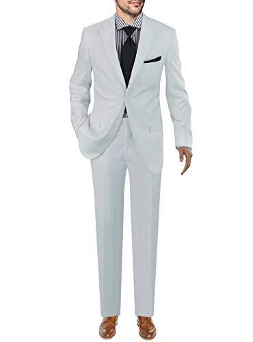 - GN GIORGIO NAPOLI Presidential Men's Two Button Suit White (54 Regular US / 64R EU/W 48