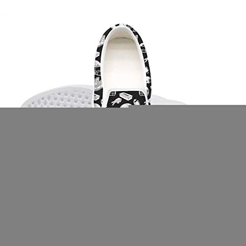 Lace-Free Canvas Clemson Tigers Logo Black and White Women's Sneakers Wear-Resistant Flat Best Skateboarding Shoes
