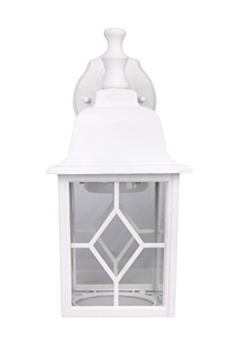 Lit-Path Outdoor LED Wall Lantern, Wall Sconce as Porch Light, 11W (100W Equivalent), 1000 Lumen, Aluminum Housing Plus Glass, Matte White Finish, Outdoor Rated, ETL and ES Qualified by LIT-PaTH (Image #6)