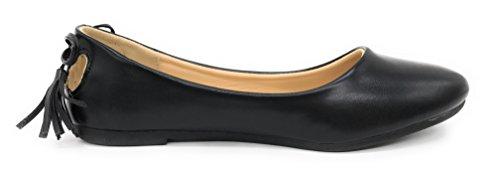 Blue Berry Easy21 Dames Casual Flats Ballet Enkelband Fashion Schoenen Zwart 72