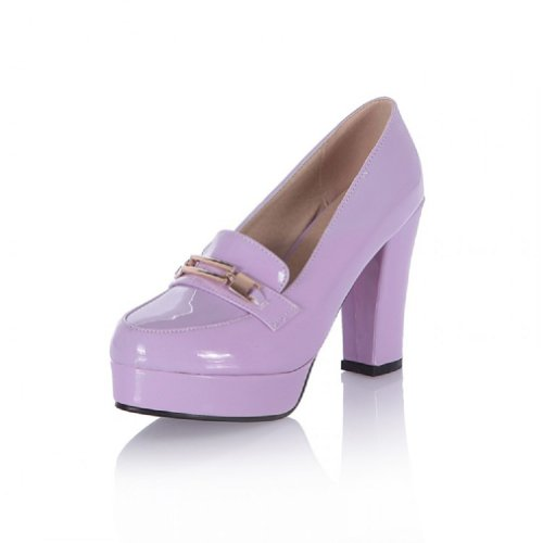 Charm Foot Fashion Womens Platform High Heel Pumps Shoes Purple nxThdniHU