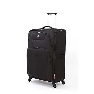 SwissGear Meyrin 29  Expandable Spinner Suitcase, Black