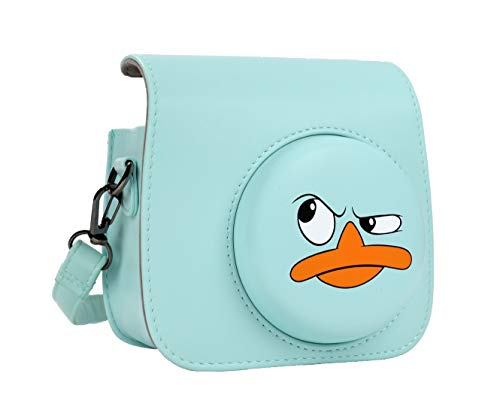 QUEEN3C Mini 9 Camera Case with Adjustable Strap Compatible for Fujifilm Instax Mini 9/8/8+ Instant Camera (Angry duckling)