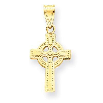 White Gold Large Celtic Cross - 7