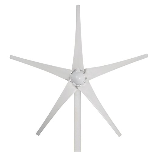 Happybuy Wind Turbine Generator 500W DC 12V Wind Turbine 5 Blade Low Wind Speed Starting Top Rated NSK Bearings Garden Street Lights Wind Turbines With Charge Controller Garden (500W 12V)