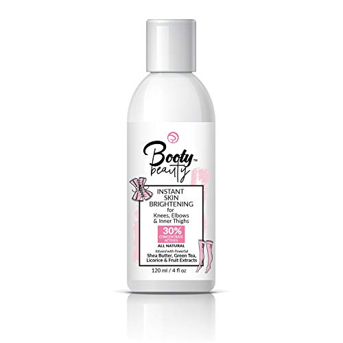 BOOTY BEAUTY - Body Lightening Lotion - No Hydroquinone - All-Natural, Fastest, Strongest, Safest. All Over Use. Knees, Elbows, Inner Thighs