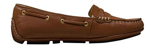 Sperry Top-Sider Womens Gold Penny Driver Python Cognac