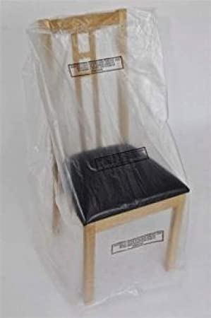 phoenix supplies pack of 6 polythene dining chair dust cover