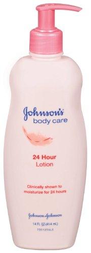 Le Soin du corps de Johnson, 24 h Lotion pour le corps, 14 onces pompe Bouteilles (pack de 4)