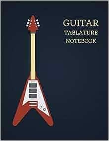 guitar tablature notebook blank guitar tabs 120 pages 8 5 x 11 a manuscript book staff. Black Bedroom Furniture Sets. Home Design Ideas