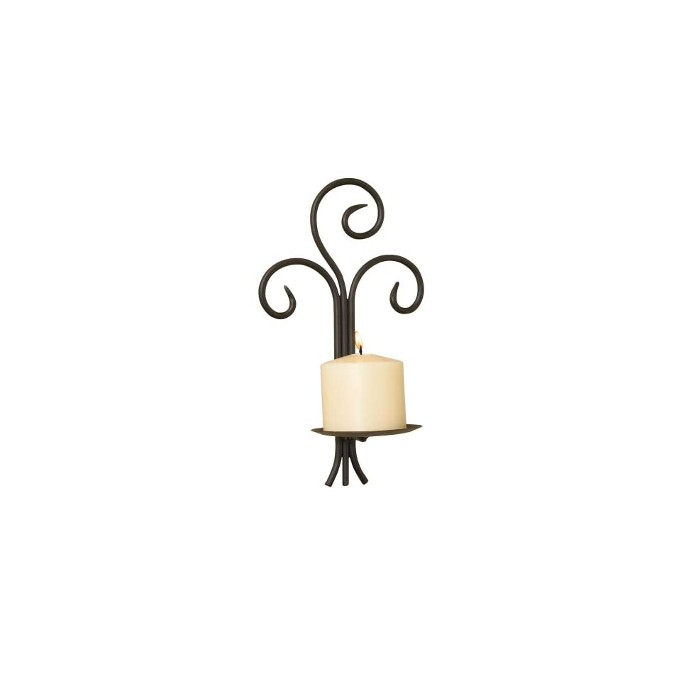 Luca Bella Home™ Forged Scroll Wrought Iron Wall Sconce