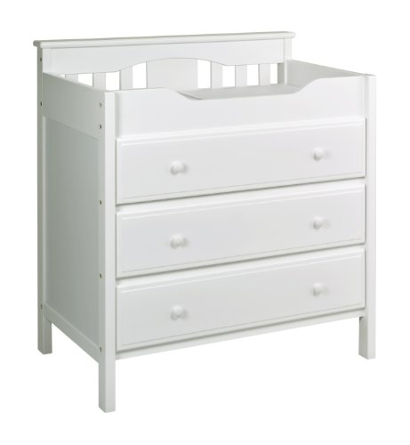 DaVinci 3 Drawer Changer Dresser White product image