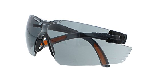 - Encon Nascar 442 Wraparound High Performance Safety Eyewear with Orange Tip, Gray Lens, Gray Frame