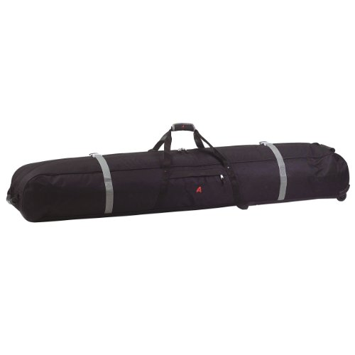 Athalon Padded Multi Use Wheeling Ski/Snowboard Bag (Black, 185cm)