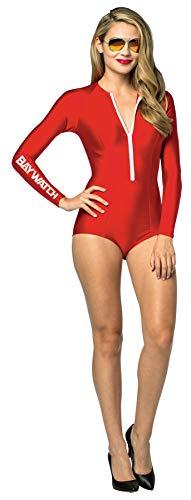 UHC Women's Baywatch Lifeguard Suit Movie Theme Fancy Dress Halloween Costume, OS -