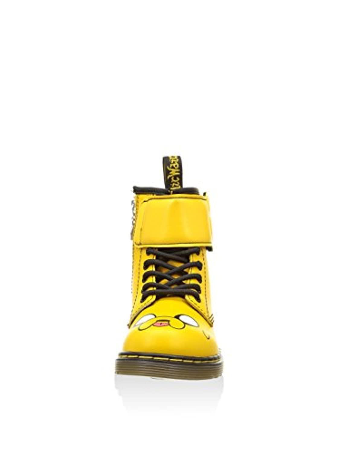 MARTENS Kids Yellow Leather Jake The Dog Boots (Junior 1 UK / 33 EU)