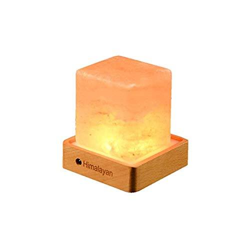 Natural Himalayan Salt Lamp, Cube Salt Lamp Color Changing Hand Carved Crystal Salt Lamp with Dimmer Control