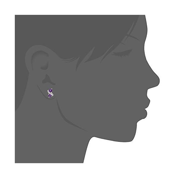 Naava Pendientes para Mujer de Oro Blanco 9K con 16 Diamantes y Amatistas Naava Pendientes para Mujer de Oro Blanco 9K con 16 Diamantes y Amatistas Naava Pendientes para Mujer de Oro Blanco 9K con 16 Diamantes y Amatistas