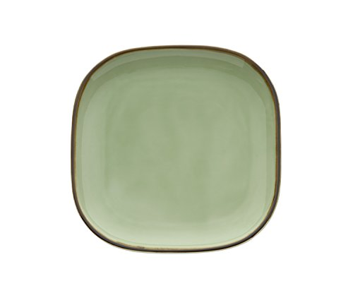 "Oneida Foodservice F1463067001 Studio Pottery Celadon, 9.875"", Set of 12, Square Plate"
