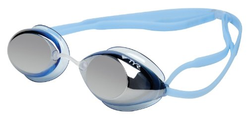 TYR Tracer Junior Racing Metallized Goggle (Blue Ice Metallic)
