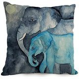 Alphadecor 18 X 18 Inches / 45 By 45 Cm Elephant Cushion Covers,double Sides Is Fit For Car,girls,home Office,study Room,outdoor,lover