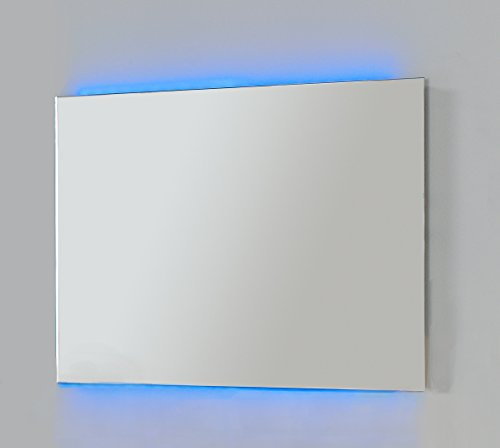LED Wall Frameless Mirror 40-inch Wide, Full Color with Remote Control, Wall Mounted, Made in Spain (European Brand) by Hispania bath