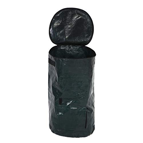 Zerodis Garden Planter Bag, Organic Waste Fermentation Environmental PE Cloth Composting Bag for Fruit Kitchen Garden…