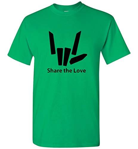 Share love Unisex T-Shirt for Girls and Boys Irish Green - Love Irish Boys Green