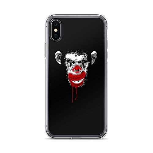 iPhone X/XS Case Anti-Scratch Creature Animal Transparent Cases Cover Evil Monkey Clown Animals Fauna Crystal Clear]()