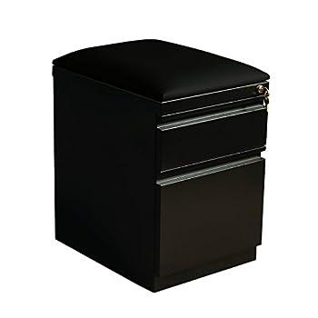 "Hirsh Industries 20"" Deep Mobile Seat Box-File Cabinet in Black"