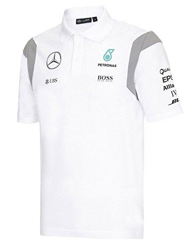 Mercedes-Benz - Polo - para hombre Blanco blanco Talla:XL: Amazon ...