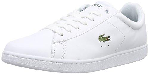 Lacoste Carnaby Evo Lcr, Zapatillas para Hombre Blanco - White (001-White)