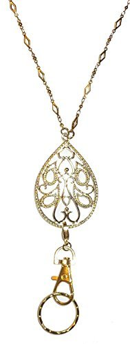 - Hidden Hollow Beads Trendy Women's Fashion Lanyard Necklace and ID Badge Holder, 34