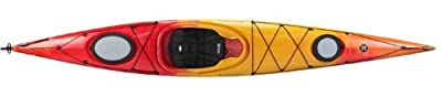 93215942 Perception Tribute 14.0 Kayak, Red/Yellow Rudder